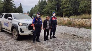 Ormanda mantar ararken kaybolan kişi bulundu
