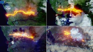 La Palma'daki yanardağ uydudan görüntülendi