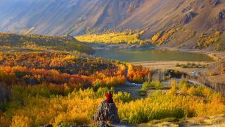 Sonbahar renklerine bürünen Nemrut Krateri doğal fotoğraf stüdyosu oldu