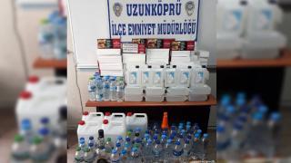 Edirne'de 111,5 litre sahte içki ele geçirildi