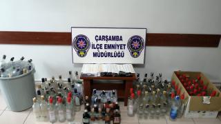 Samsun'da sahte içki operasyonunda bir kişi tutuklandı