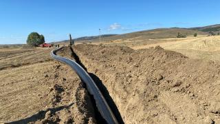 Tokat'ta Güzelce Barajı sulaması inşaatı sürüyor