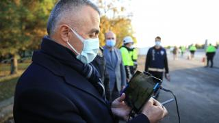 Kırklareli Valisi Bilgin, drone ile trafik denetimi yaptı