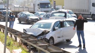 Pendik'te zincirleme kazada 2 kişi yaralandı