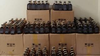 Bolu'da 1400 şişe kaçak içki yakalandı