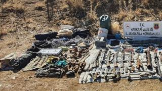 Teröristlerin kullandığı mühimmat ve el bombaları ele geçirildi