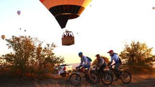 Dağ bisikleti sporcuları Kapadokya'da yarıştı