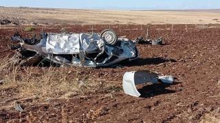 Şanlıurfa'da takla atan otomobil şarampole devrildi: 1 ölü, 3 yaralı