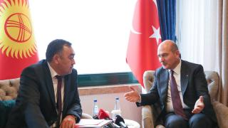 Bakan Soylu, Kırgızistan İçişleri Bakanı Niyazbekov ile görüştü