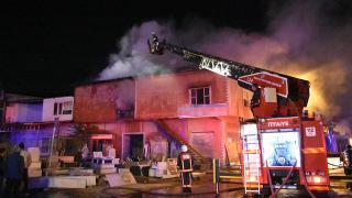 Malatya'da kereste atölyesinde yangın
