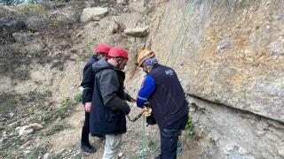 Bolu'da gazetecilere arama kurtarma ve dağcılık eğitimi verildi