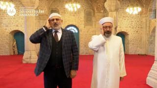 Diyanet İşleri Başkanı Erbaş Şuşa'da ezan okudu