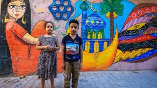 Bağdat'ın sokakları gönüllü gençlerin eliyle renkleniyor