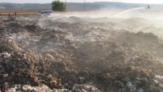 Gaziantep'te tarla yangını: 90 tona yakın pamuk yandı