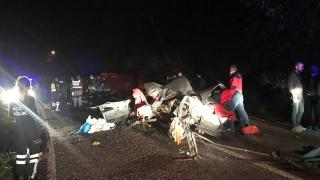 Giresun'da otomobille kamyonet çarpıştı: 1 ölü, 5 yaralı