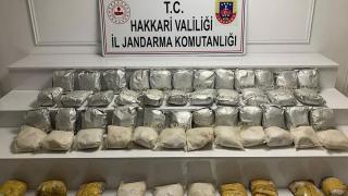 Hakkari kırsalında 60 kilogram eroin ele geçirildi