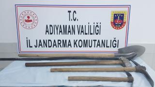 Adıyaman'da izinsiz kazı yapan 4 kişi suçüstü yakalandı
