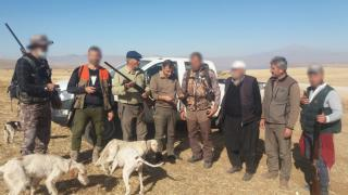 Kayseri'de kaçak avlanan 5 kişiye 5 bin 650 lira ceza kesildi