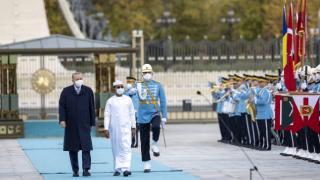 Cumhurbaşkanı Erdoğan, Çad Geçiş Dönemi Devlet Başkanı Itno'yu karşıladı