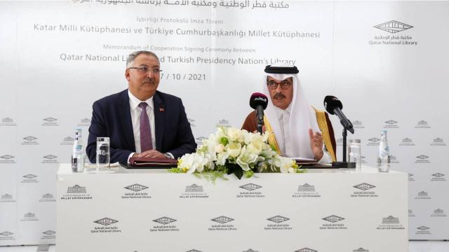 Cumhurbaşkanlığı Millet Kütüphanesi ile Katar Milli Kütüphanesi arasında iş birliği
