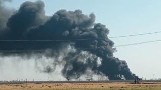 Kamışlı'da petrol kuyusunda yangın: 2 gündür söndürülemiyor
