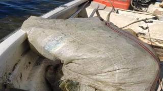 Beyşehir Gölü'nde yasak olan ada açıklarında ağ atan avcıya ceza
