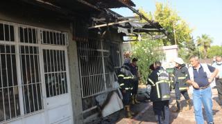 Adana'da mesleki eğitim merkezinde çıkan yangın hasara yol açtı