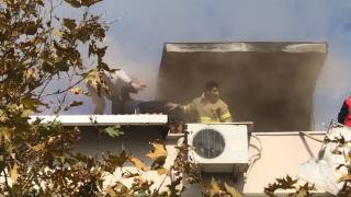 Balıkesir'de yangın: 80 yaşındaki ev sahibini itfaiye kurtardı