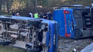 Rize'de cezaevi aracı kamyonetle çarpıştı: 11 yaralı