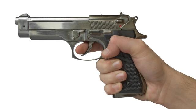 Taziye evinde silahlar konuştu