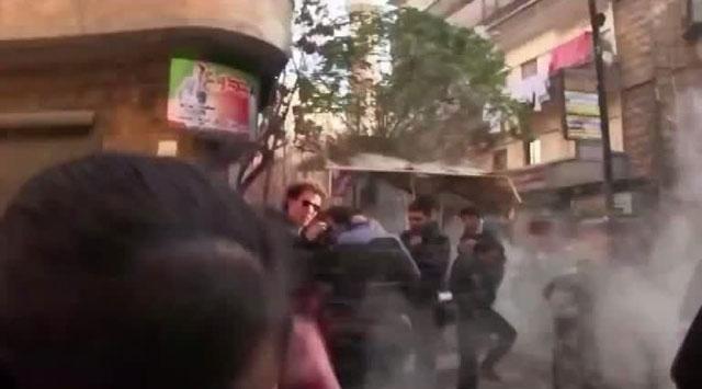 Suriyede patlama anı kameralarda