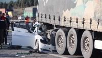 Konyada tır otomobile çarptı: 1 ölü