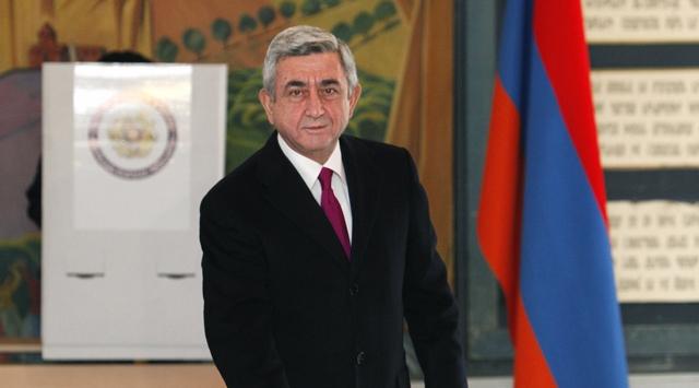 Ermenistanda Sarkisyan önde