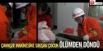 Çamaşır makinesine sıkışan çocuk ölümden döndü