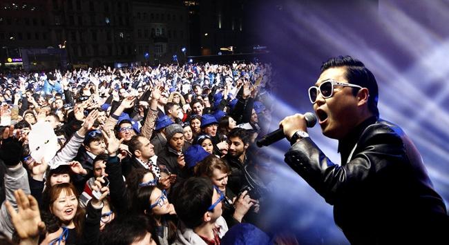 """PSY """"Gangnam Style"""" ile İstanbulu salladı"""