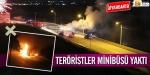 Diyarbakırda minibüs yaktılar