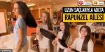 Uzun saçlarıyla adeta Rapunzen ailesi