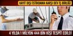 4 yılda 1 milyon 444 bin kişi tespit edildi!