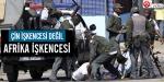 Polis aracına kelepçelenip sürüklendi