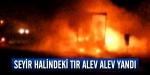 Seyir halindeki TIR alev alev yandı