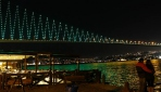 İstanbul Boğazı yeşile büründü