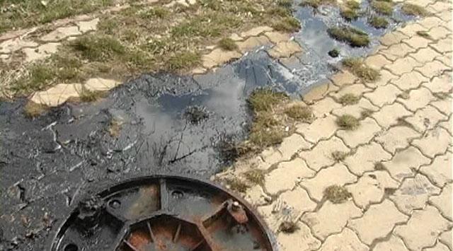 Kanalizasyondan petrol çıktı