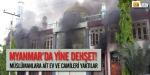 Müslümanlara ait ev ve camileri yaktılar