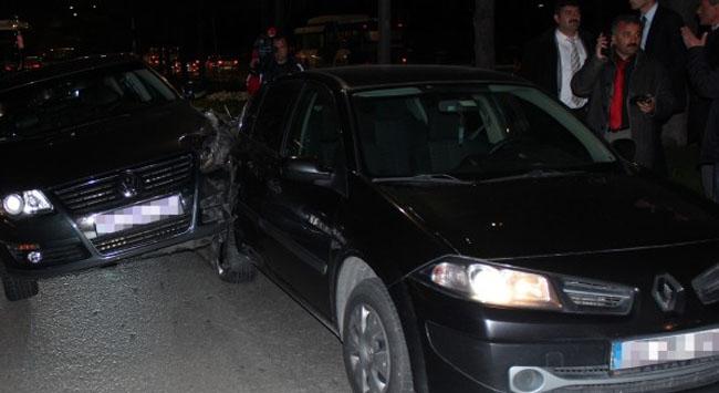 Başbakanın konvoyunda kaza
