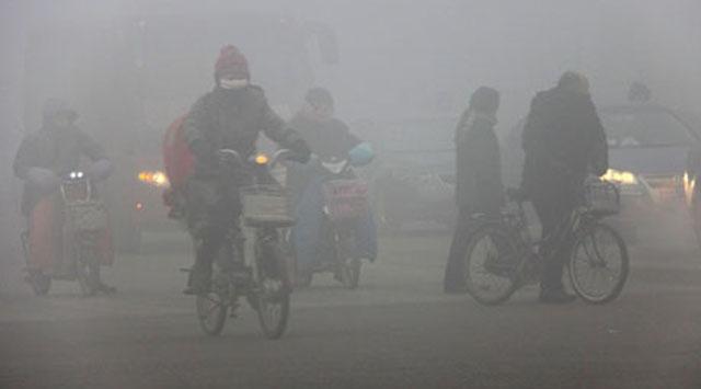 Çinde hava kirliliğine turuncu alarm