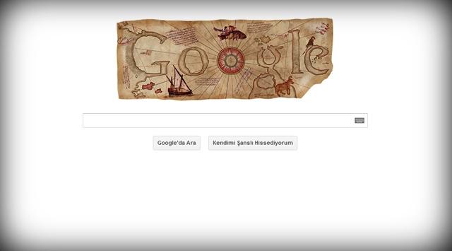 Google, Pîrî Reisi unutmadı