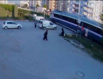 Tren kazası kameralarda