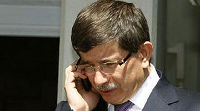 Davutoğlundan telefon diplomasisi