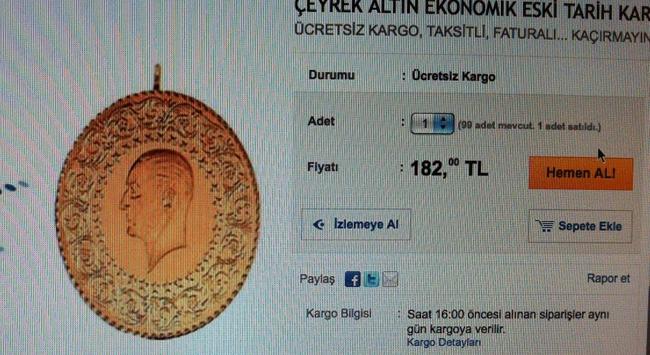 Çeyrek İnternette 180 Lira