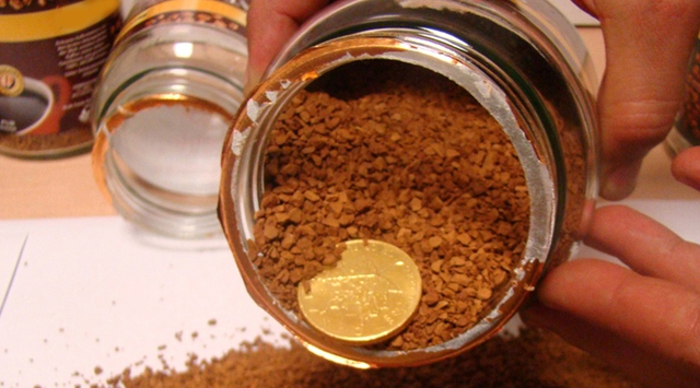 Kahve kutularında 4 kilo altın